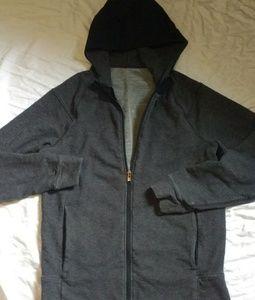 Lululemon Grey Hooded Zip Up Workout Jacket L 12